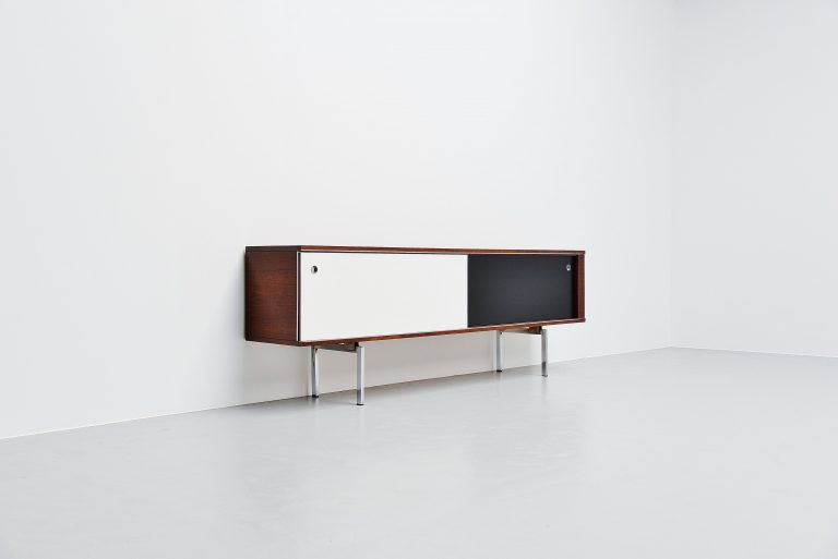 Long N-Line sideboard in rosewood Belgium 1960