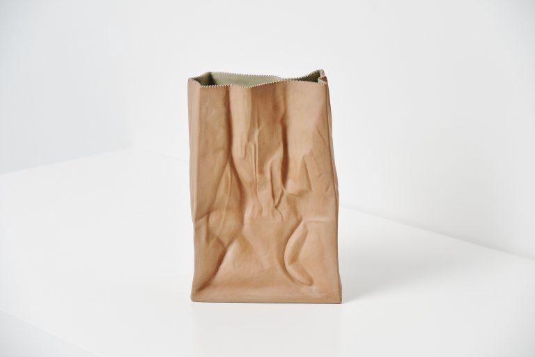 Tapio Wirkkala paper bag vase Rosenthal Germany 1977