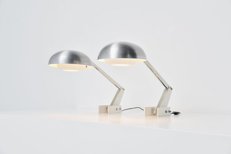 Giraffe table lamps made in Italy 1970