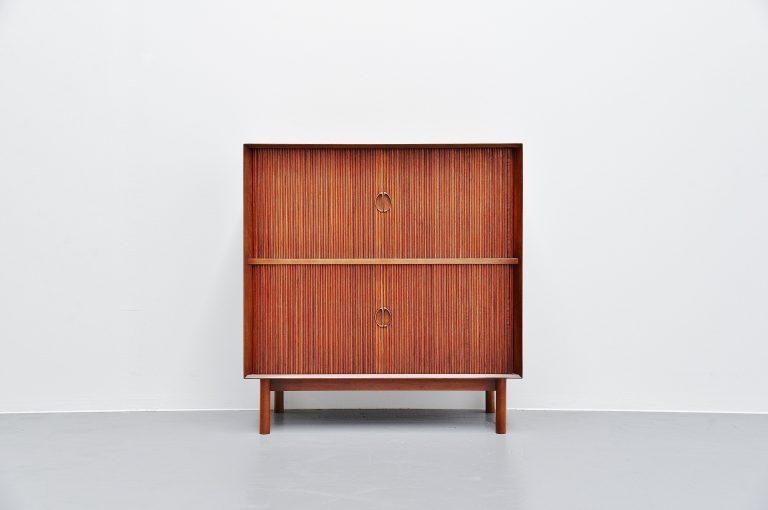 Peter Hvidt Orla Molgaard Nielsen tambour cabinet Denmark 1958