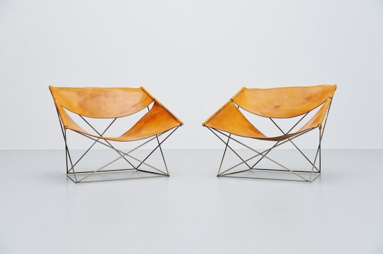 Pierre Paulin F675 Butterfly chair pair Artifort 1963