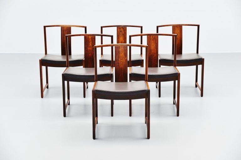 Rosewood dining chairs set Denmark 1960