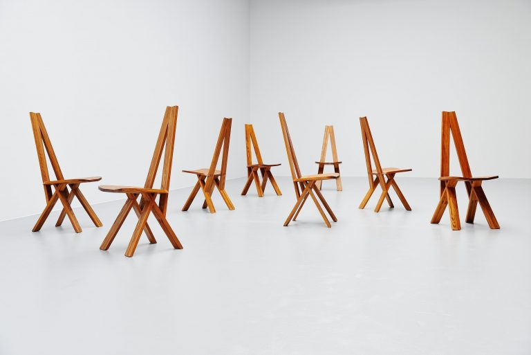 Pierre Chapo Chlacc chairs model S45 France 1979